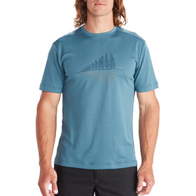 Marmot Hike Leisure SS Tee Men, cascade blue